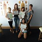 Uroczyste rozdanie zaświadczeń i dyplomów ukończenia kursu masażu  w CS Anatomic