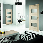 Drzwi Porta Koncept , Model : K.3 , Okleina : Portaperfect 3D Dąb Malibu