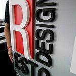 litery 3d, logotypy przestrzenne