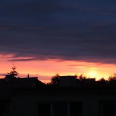 Zachód słońca nad Chwarznem-Wiczlinem 26 czerwca 2016