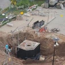 Kobieta wpadła do wykopu Gdańsk ul. Olsztyńska