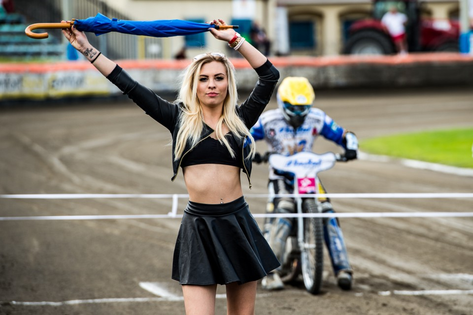 Katarzyna Rurka - Gdańska podprowadzająca - przed biegiem 8