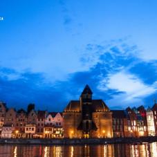 Gdańsk z kajaka wieczorem