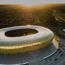 Stadion Energa Gdańsk z lotu ptaka