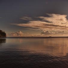 Orłowski Klif o wschodzie słońca