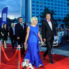 Agnieszka Odorowicz z mężem