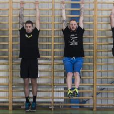 Od lewej: Dominik Kossakowski, Troy Batchelor, Kacper Gomólski, Renat Gafurow