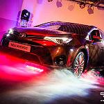 Efekty świetlne, oświetlenie - premiera Toyoty Avensis 2015