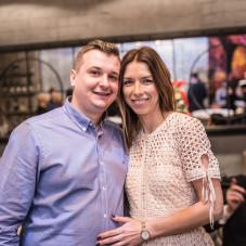 Kamil Sadowski - szef kuchni - z żoną