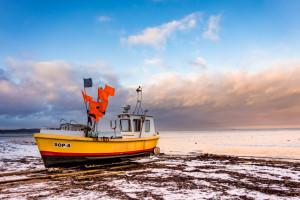 Fisherman boat Sopot