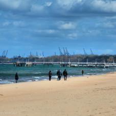 Plaża w Brzeźnie 22 kwietnia