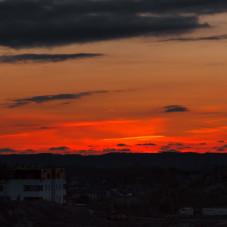 Mechelinki  zachód słońca