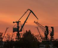 stoczniowe klimaty - Gdynia zachód słońca