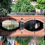 Most Miłości i kanał Raduni