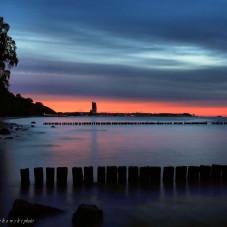 Gdyńska plaża 5 czerwca wieczorem