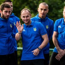 Luka Zarandia, Rafał Siemaszko, Vinicius da Silva de Oliveira Marcus i Grzegorz Piesio