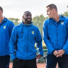 Adam Marciniak, Yannick Kakoko Sambea, Dawid Sołdecki i Tomas Kosut