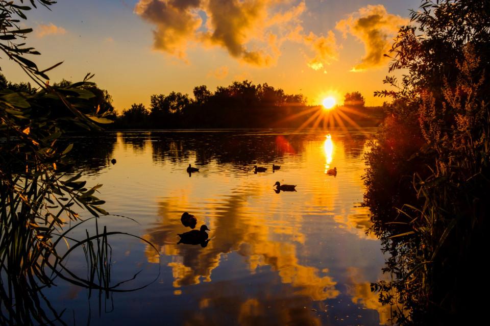 Zachód Słońca na Jasieniu.