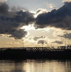 Gdy most w Sobiszewie kładzie sie spać