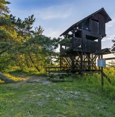 Wieża obserwacyjna- rezerwat Ptasi Raj