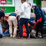 Oskar Fajfer - wypadek w 1 biegu