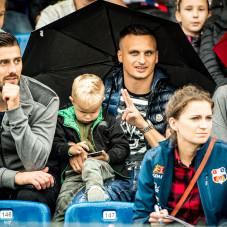 Na trubynach piłkarze Lechii Gdańsk - Grzegorz Kuświk i Sławomir Peszko
