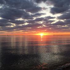 Brzeźno - wschód słońca