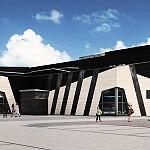 Baseny w Elblągu - elewacja i wnętrze budynku
