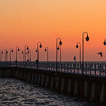 Gdynia Orłowo wschód słońca