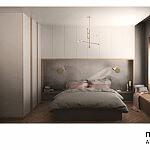 MAKE Architekci - projekt sypialni