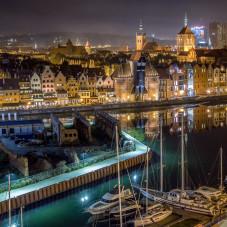 Gdańsk w nocy