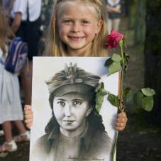 """z pogrzebu Danuty Siedzikówny  """"Inki"""""""