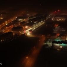 Nocny widok na Stadion Arki - Aerialperspectivv