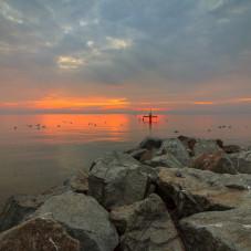 wschód słońca w Orłowie