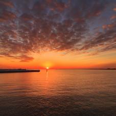 wschód słońca w Sopocie