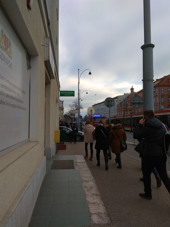 Ewakuacja Sądu Okręgowego w Gdańsku