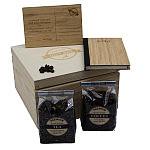 GRANDE RESPETTO - zestaw upominkowy ECO drewniany, Pudełko drewniane ECO, grawerowane logo