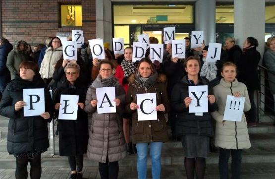 Protest przed Sądem Rejonowym w Gdańsku