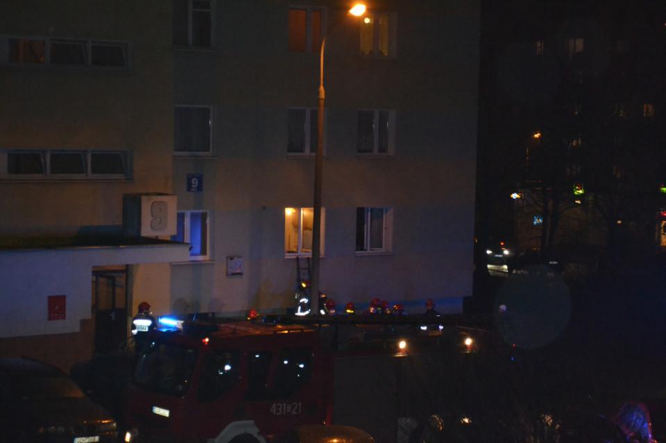 Pożar w mieszkaniu przy ul. Konwaliowej w Gdyni