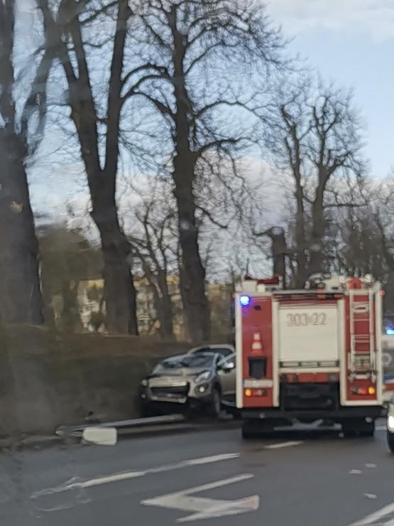 Wypadek na Trakcie św. Wojciecha w stronę Pruszcza Gdańskiego
