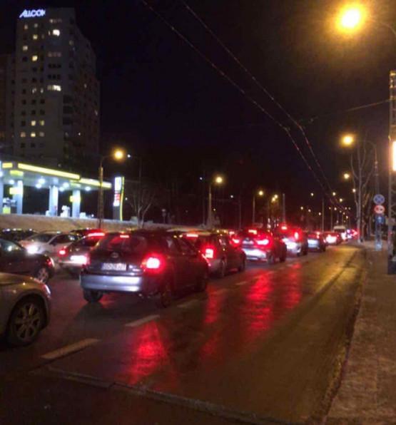 Paraliż w Redłowie w kierunku Gdańska