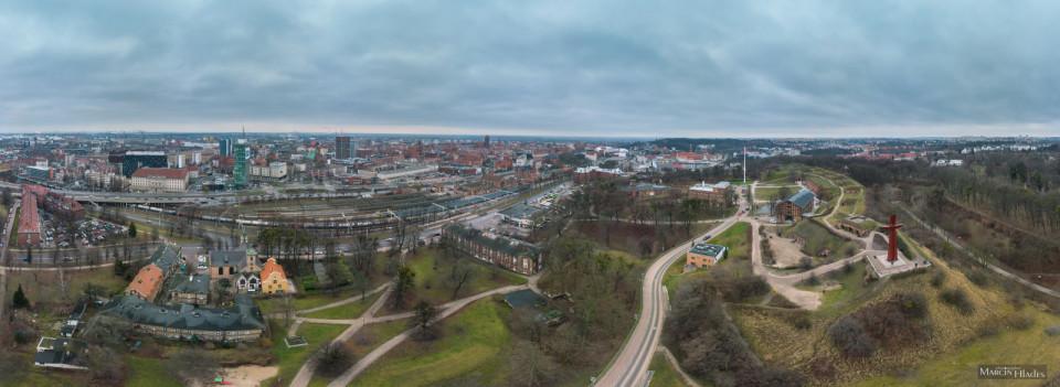 Panorama Gdańska - widok z perspektywy Góry Gradowej