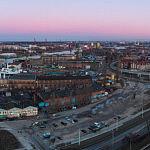Panorama Stoczni Gdańskiej i widoku na centrum miasta