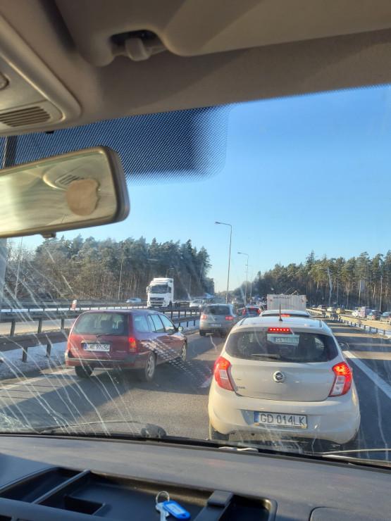 Korek między Matarnią a Owczarnią w kierunku Gdyni