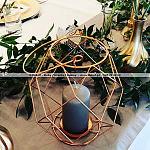 Świeczniki asymetryczne Gdynia ~ Dekoracje ślubne Gdynia ~ Wypożyczalnia akcesoriów ślubnych