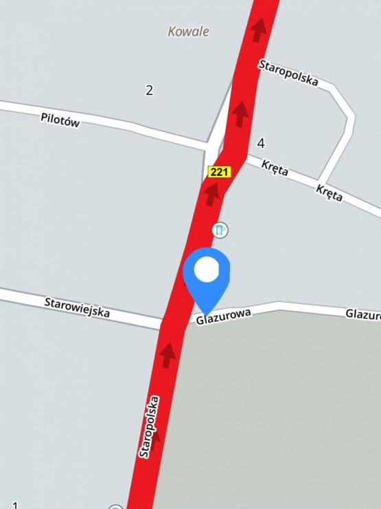Wypadek w Kowalach przy stacji paliw