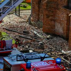 Spłonął fragment dachu kościoła św. Piotra i Pawła w Gdańsku