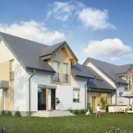 Wizualizacja aktualnie powstającego domu od ogrodu