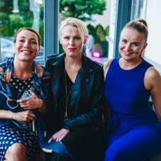 Marta Sikorska,  Aleksandra Staruszkiewicz i Marta Blendowska