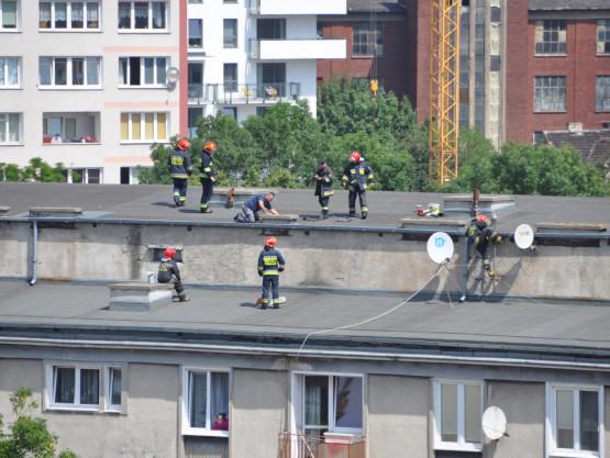 Interwencja strażaków na ul. Łagiewniki